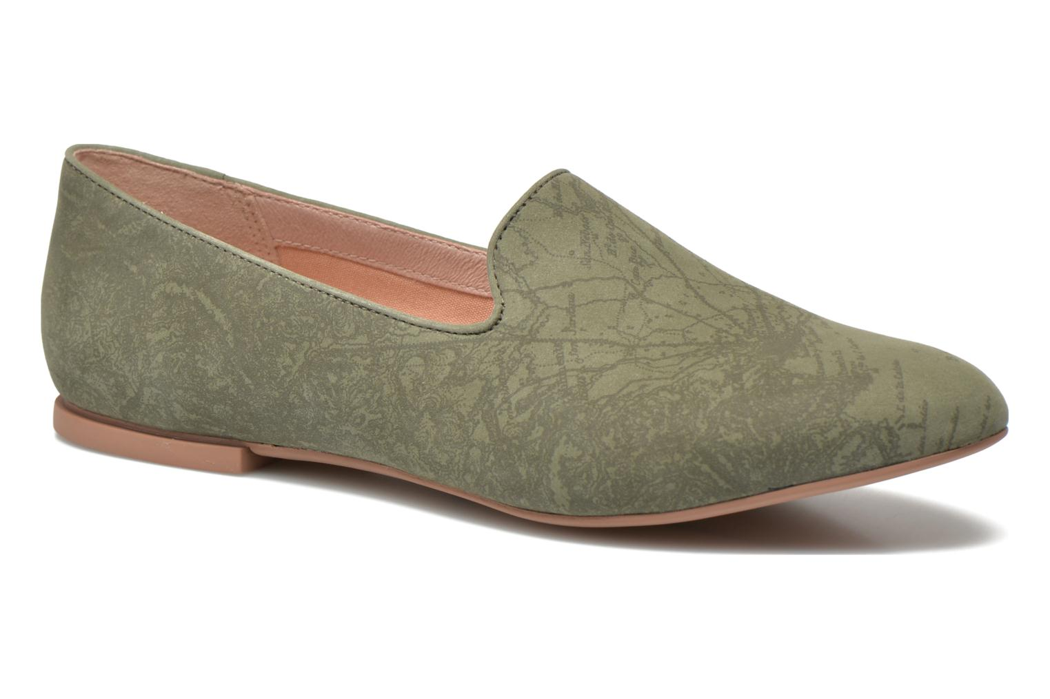 Loafers Camper Twss K200184 Green detailed view/ Pair view