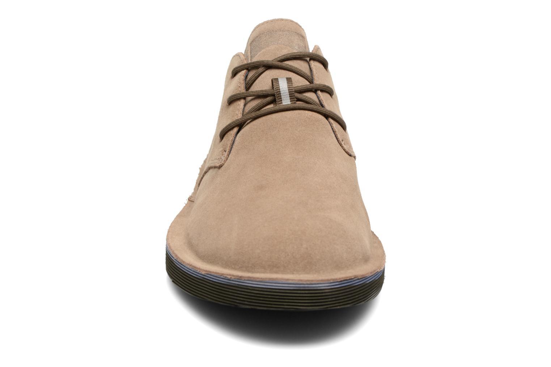 Schnürschuhe Camper Morrys K100057 beige schuhe getragen