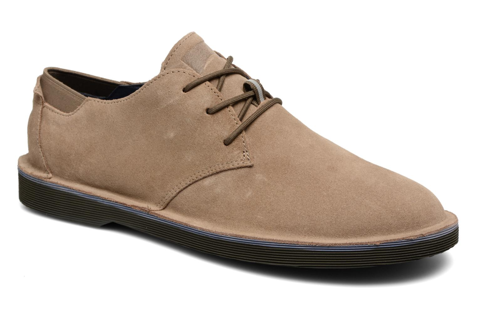 Lace-up shoes Camper Morrys K100057 Beige detailed view/ Pair view