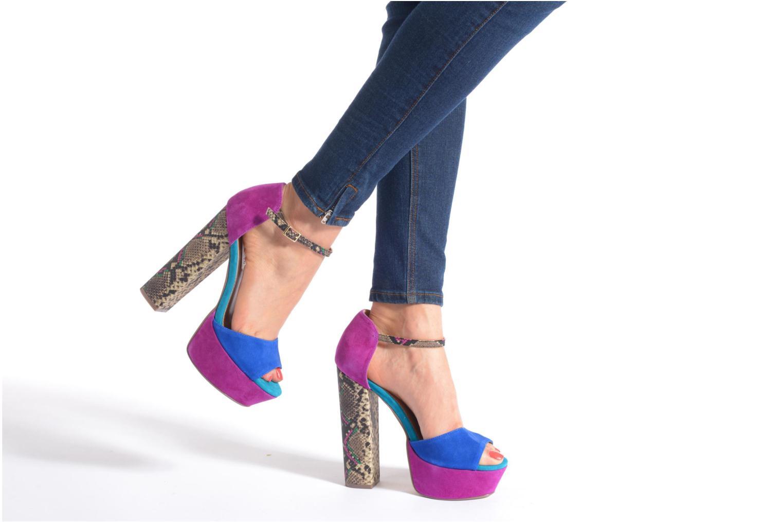 Sandales et nu-pieds Steve Madden MYRAA Multicolore vue bas / vue portée sac