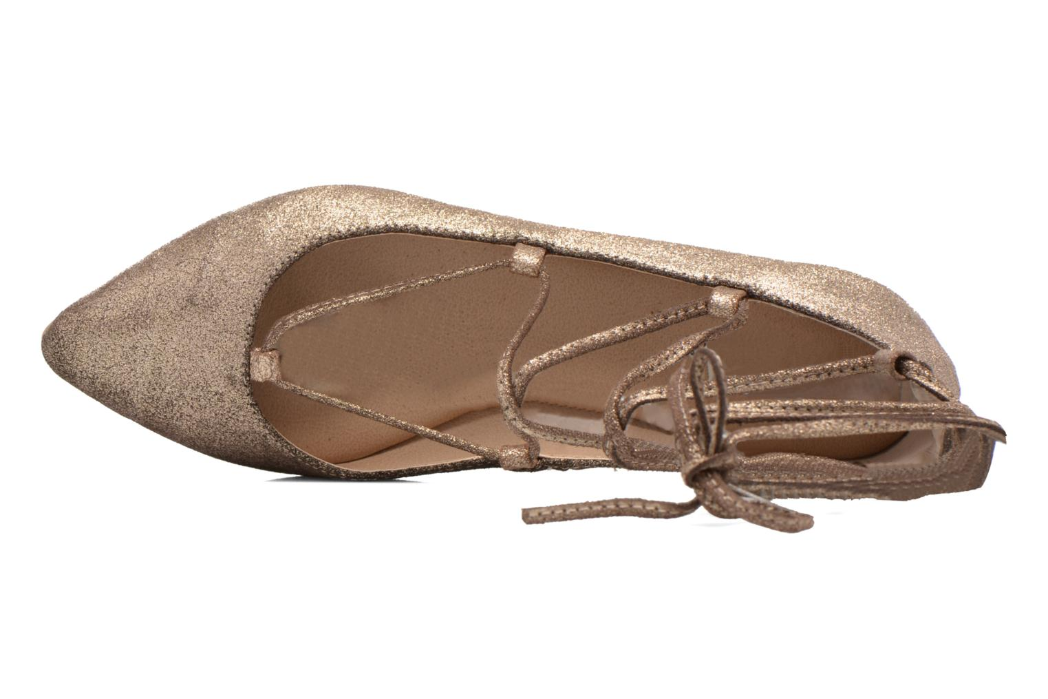 Ballet pumps Steve Madden ELEANORR Bronze and Gold view from the left