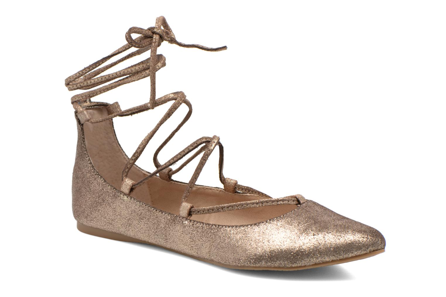 Ballet pumps Steve Madden ELEANORR Bronze and Gold detailed view/ Pair view