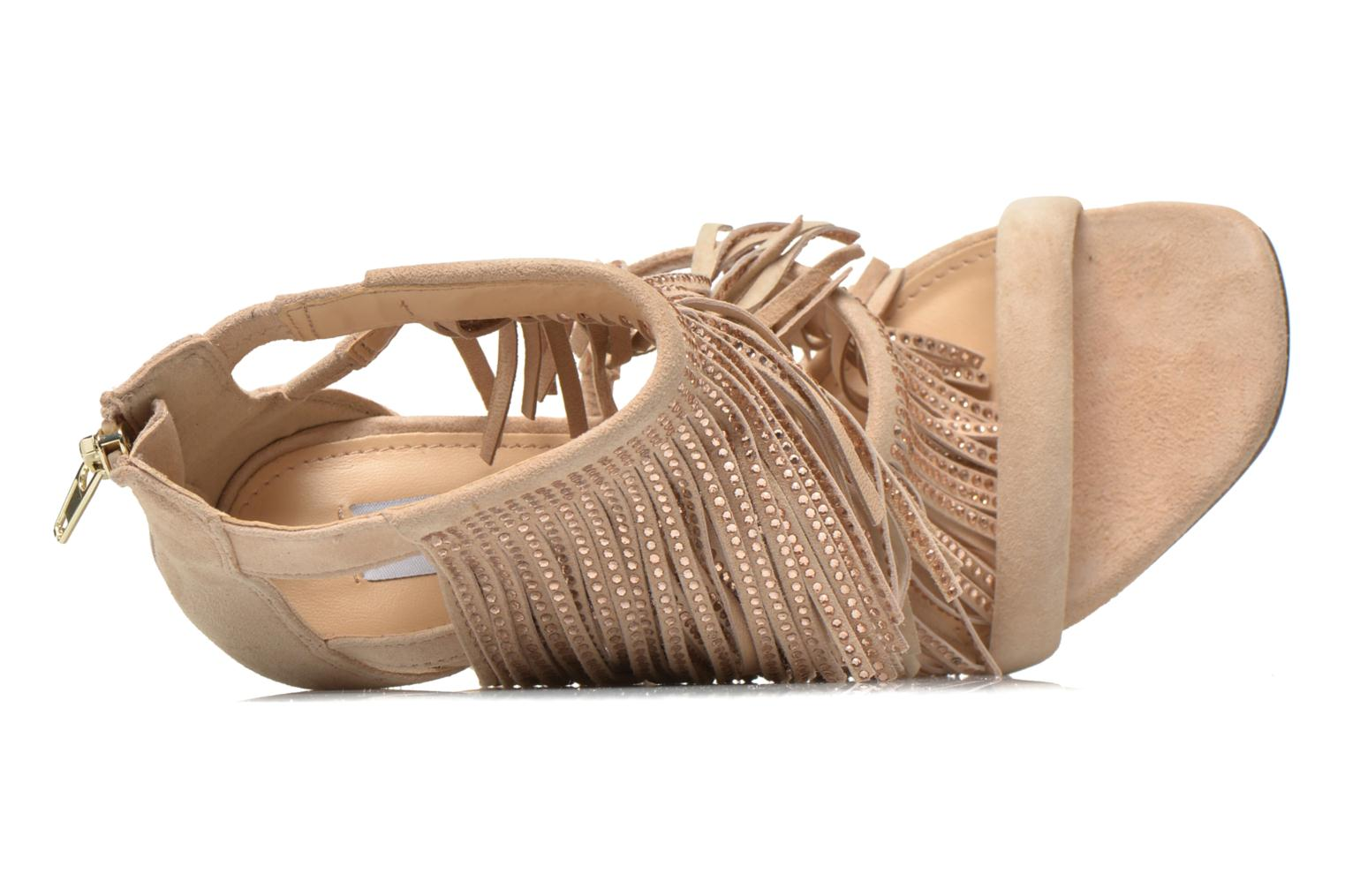 Sandals Steve Madden FRINGLY-R Beige view from the left