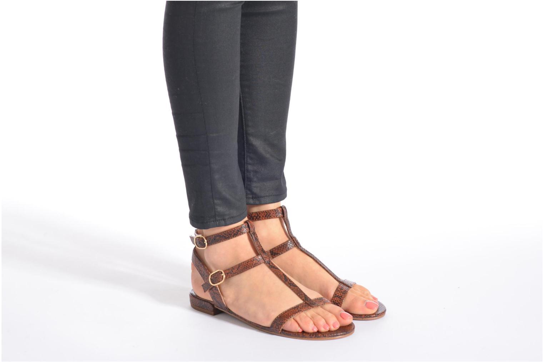 Sandales et nu-pieds Esprit Aely Bis Sandal Or et bronze vue bas / vue portée sac