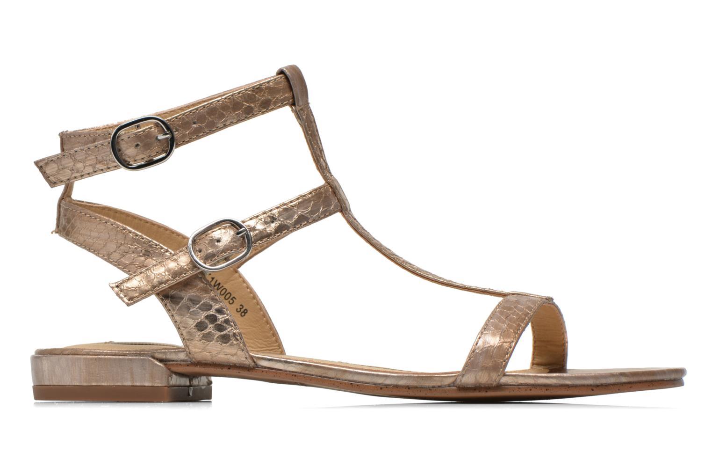 Sandales et nu-pieds Esprit Aely Bis Sandal Or et bronze vue derrière