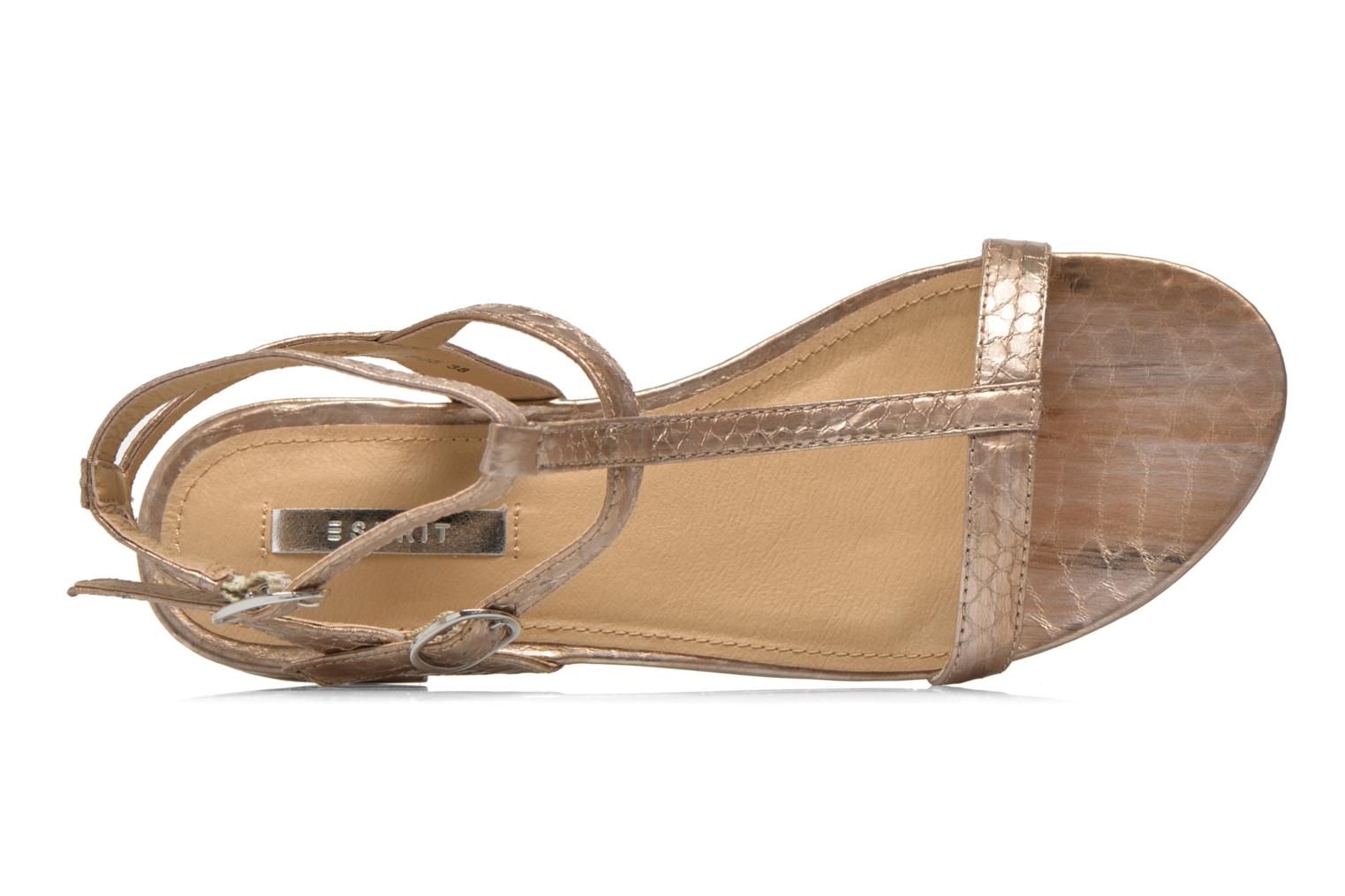 Sandals Esprit Aely Bis Sandal Bronze and Gold view from the left