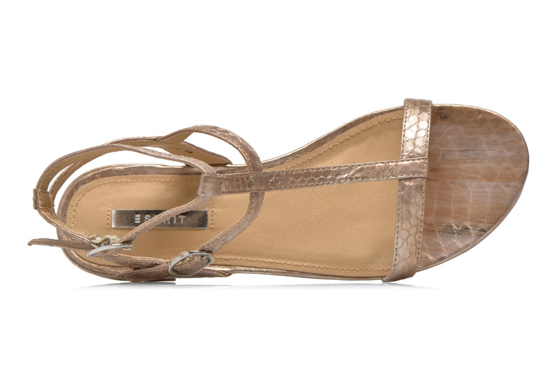 Sandales et nu-pieds Esprit Aely Bis Sandal Or et bronze vue gauche