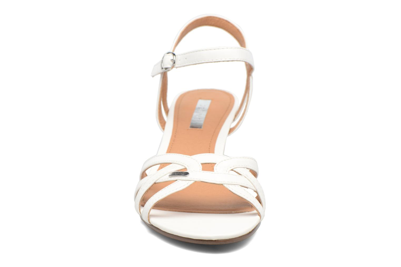 Sandalen Esprit Birkin Sandal weiß schuhe getragen