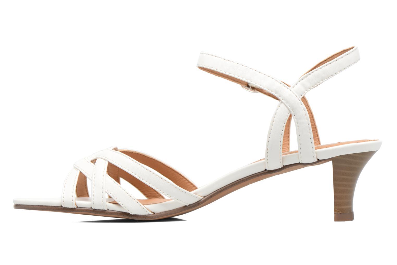 Sandalen Esprit Birkin Sandal weiß ansicht von vorne