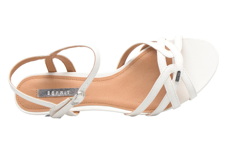 Sandalen Esprit Birkin Sandal weiß ansicht von links