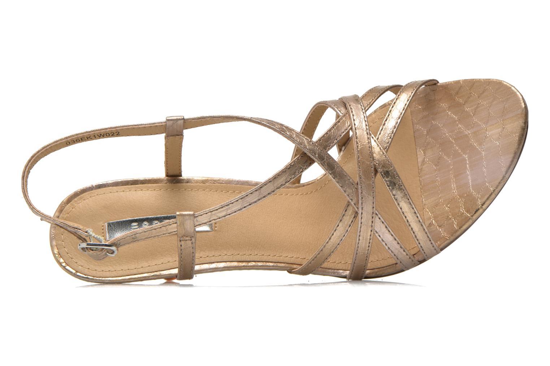 Sandales et nu-pieds Esprit Dor Sandal Or et bronze vue gauche