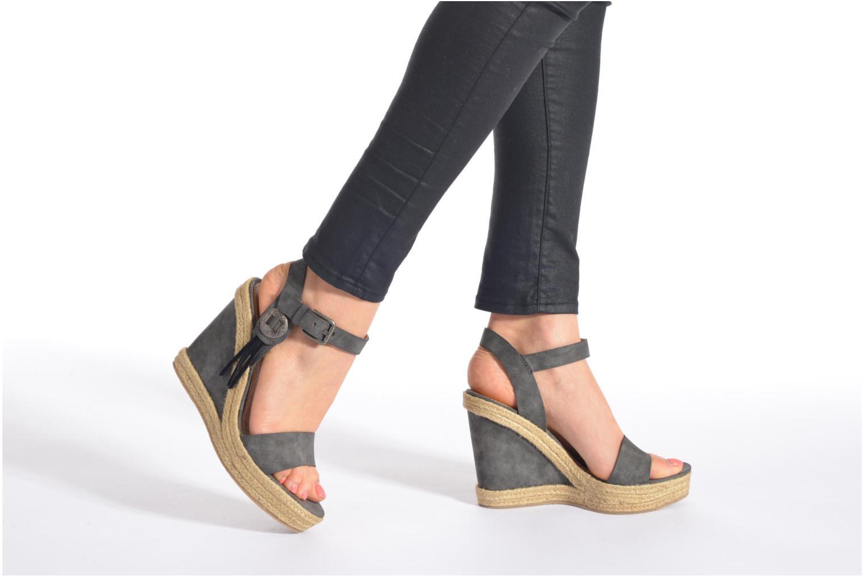 Sandales et nu-pieds Esprit Twiggy Sandal Gris vue bas / vue portée sac