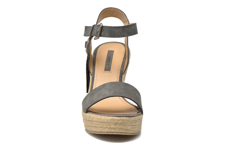 Sandales et nu-pieds Esprit Twiggy Sandal Gris vue portées chaussures