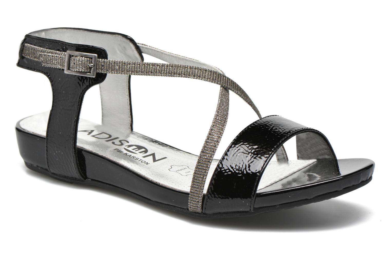Sandals Madison Emax Black detailed view/ Pair view