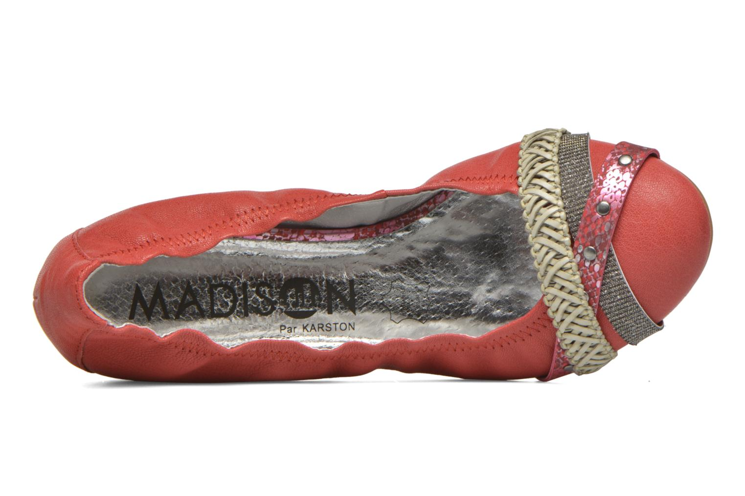 Ballerines Madison Clewou Rouge vue gauche
