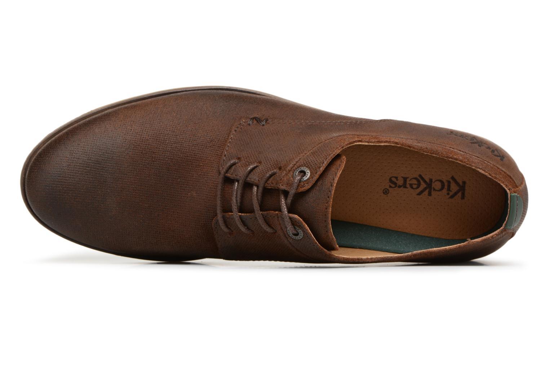 Chaussures à lacets Kickers FLAVESTON Marron vue gauche