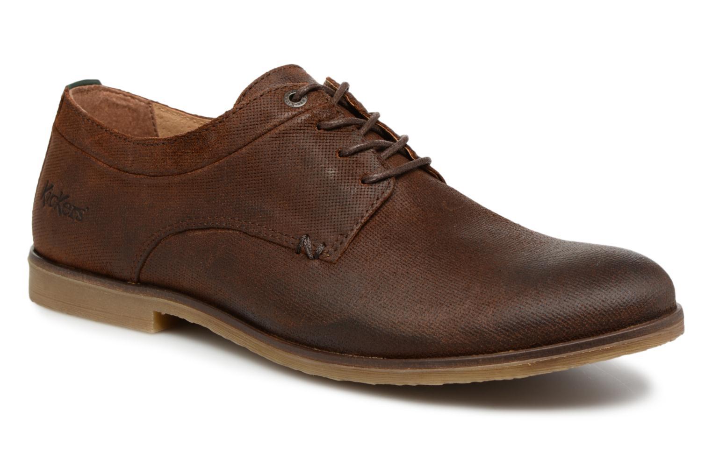 Chaussures à lacets Kickers FLAVESTON Marron vue détail/paire