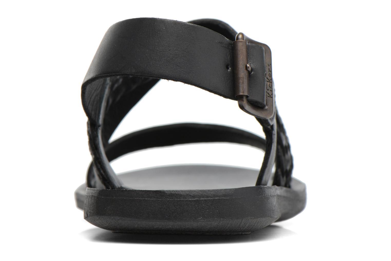 Sandales et nu-pieds Kickers MARVEUS Noir vue droite