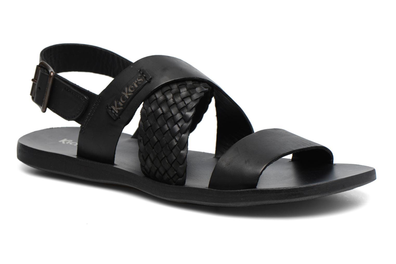 Sandales et nu-pieds Kickers MARVEUS Noir vue détail/paire