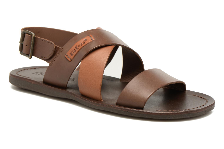 Sandales et nu-pieds Kickers MARVEUS Marron vue détail/paire