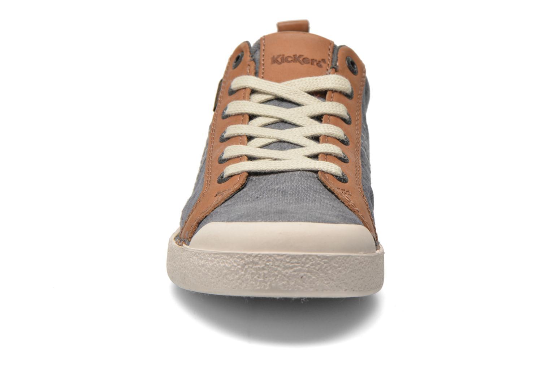 Baskets Kickers TRIDENT Gris vue portées chaussures