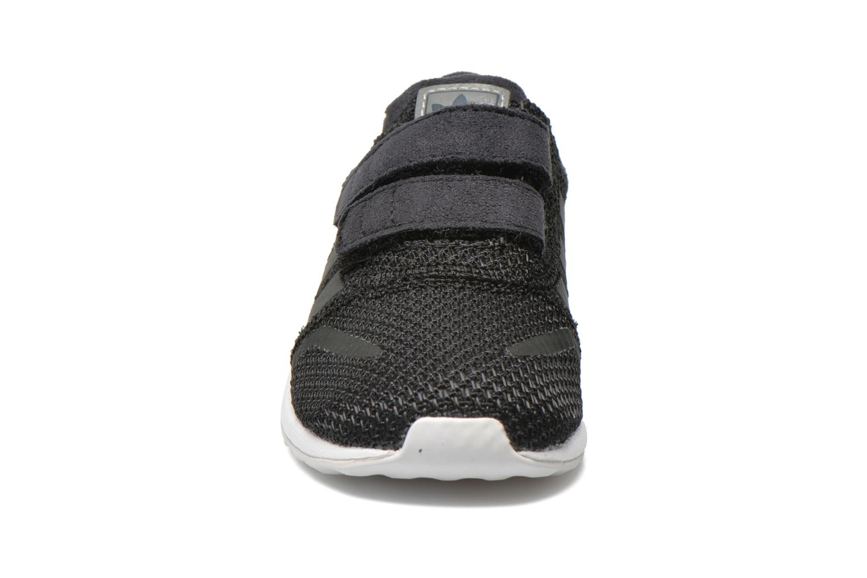 Baskets Adidas Originals Los Angeles Cf I Noir vue portées chaussures