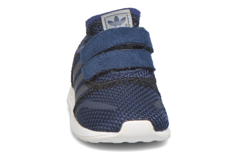 Baskets Adidas Originals Los Angeles Cf I Bleu vue portées chaussures