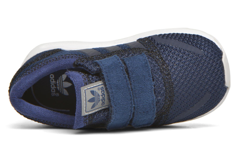 Sneaker Adidas Originals Los Angeles Cf I blau ansicht von links