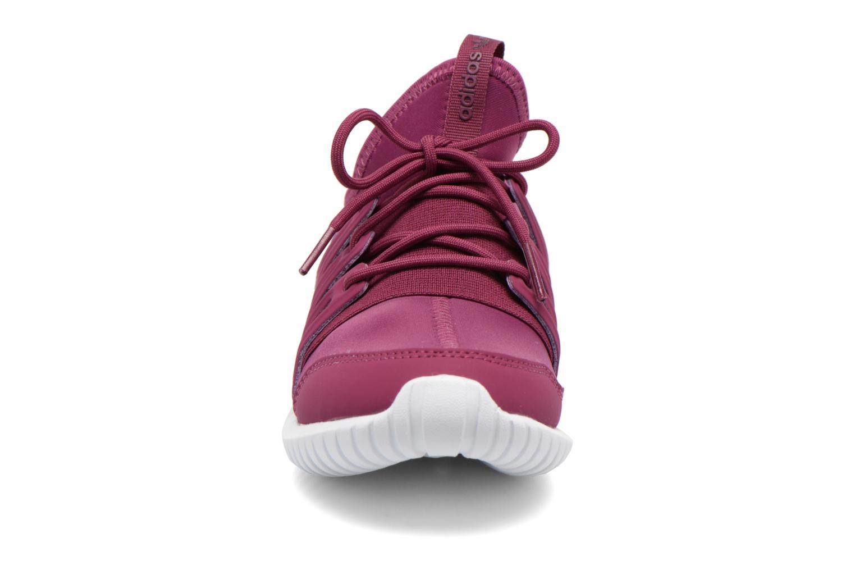 Baskets Adidas Originals Tubular Radial K Violet vue portées chaussures