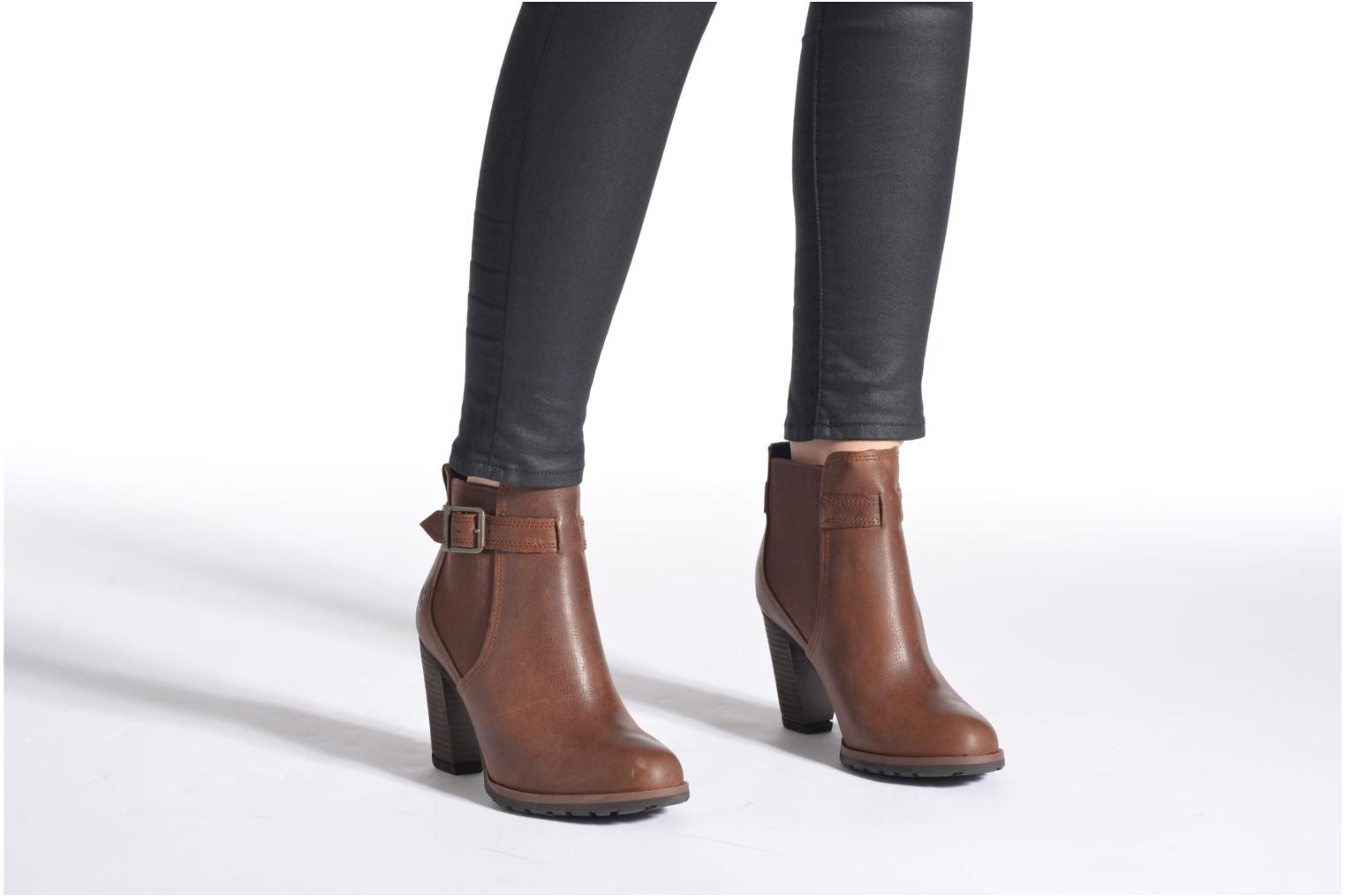 Ankle boots Timberland Stratham Heights Double Brown view from underneath / model view