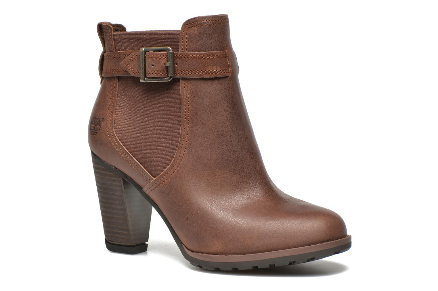 Ankle boots Timberland Stratham Heights Double Brown detailed view/ Pair view