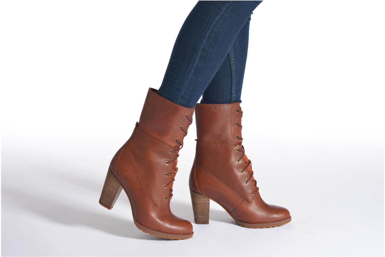 Stiefeletten & Boots Timberland Stratham Heigts braun ansicht von unten / tasche getragen