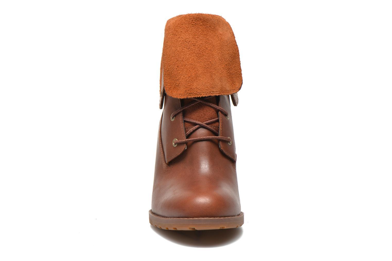 Stiefeletten & Boots Timberland Stratham Heigts braun schuhe getragen