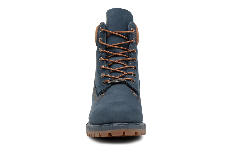 "Bottines et boots Timberland 6"" Premium Boot Bleu vue portées chaussures"