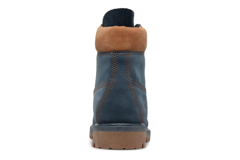 "Botines  Timberland 6"" Premium Boot Azul vista lateral derecha"