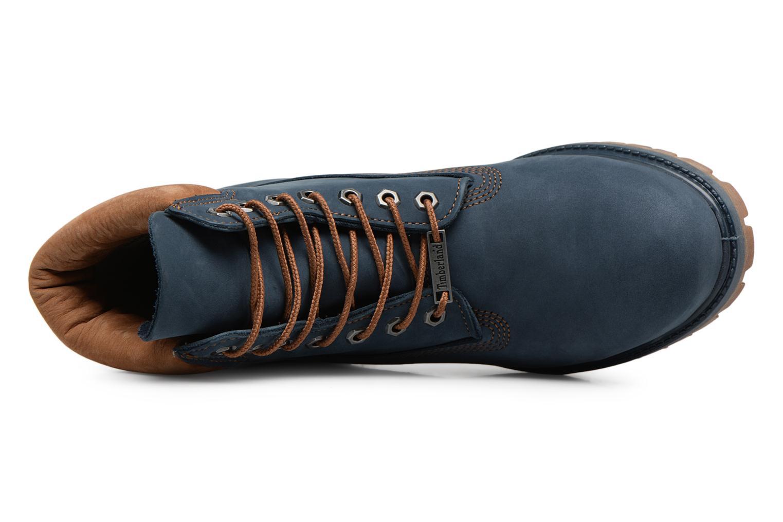 "Botines  Timberland 6"" Premium Boot Azul vista lateral izquierda"