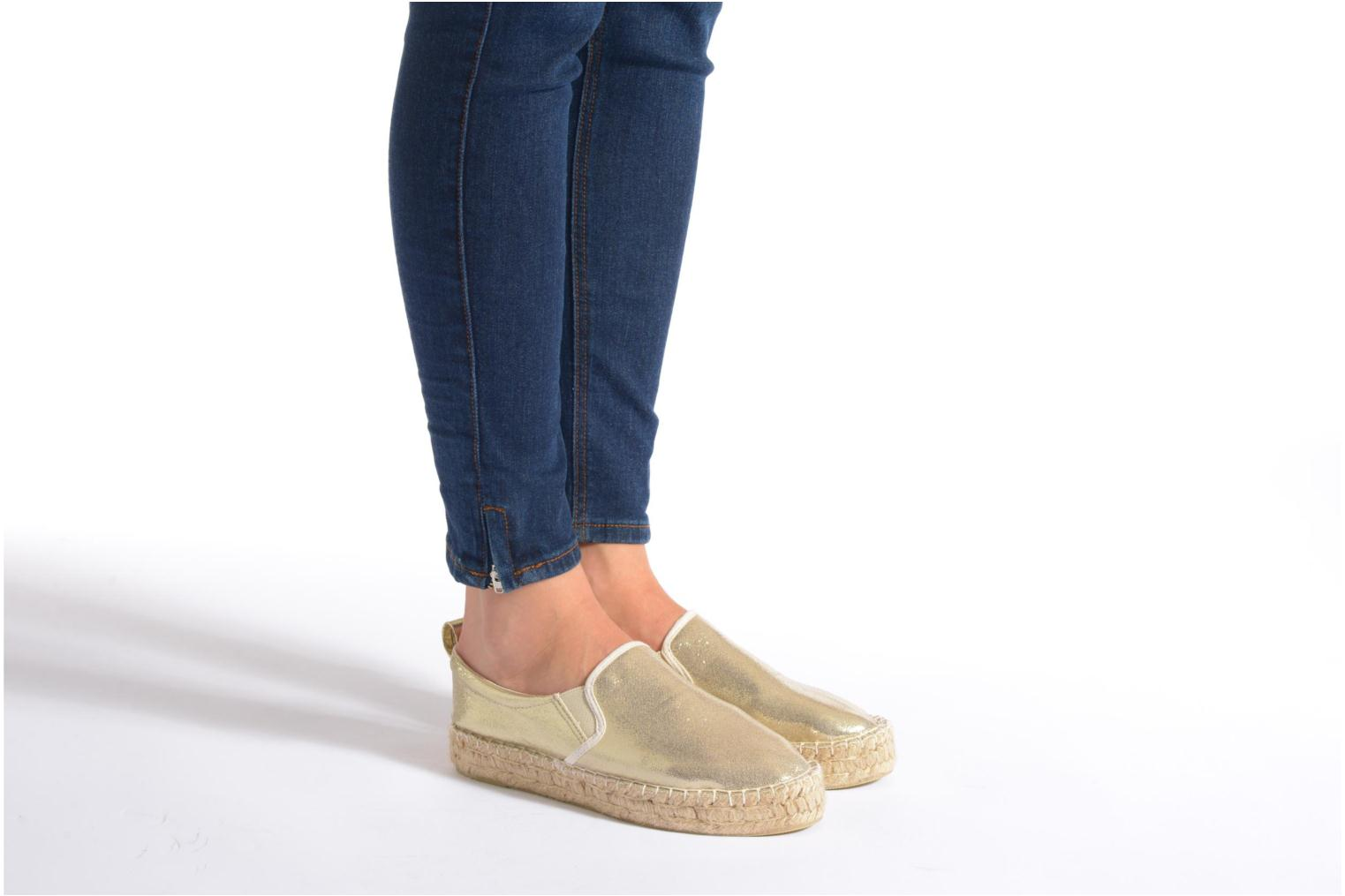 Espadrilles Colors of California Vicky Bronze and Gold view from underneath / model view