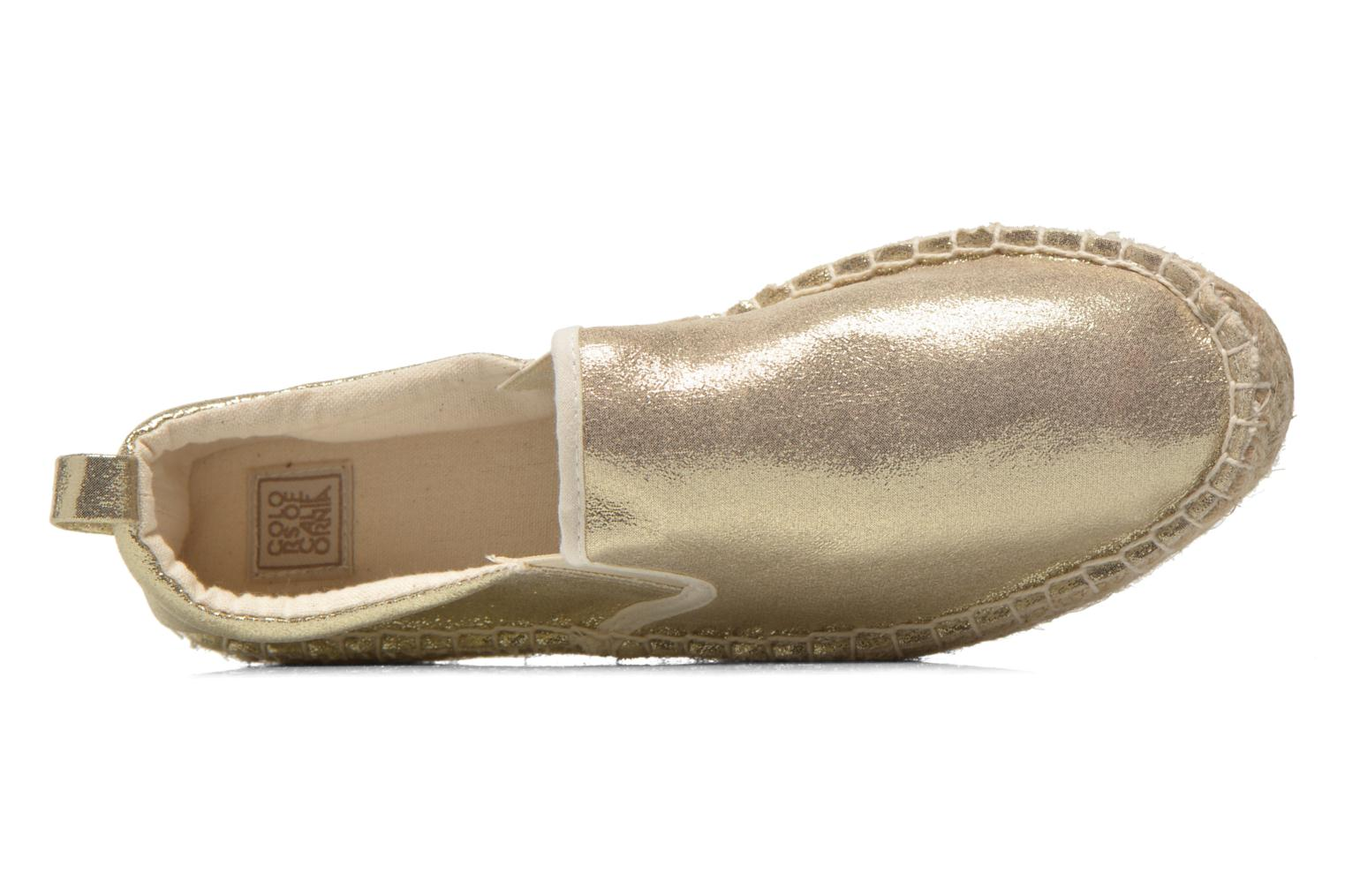 Espadrilles Colors of California Vicky Bronze and Gold view from the left