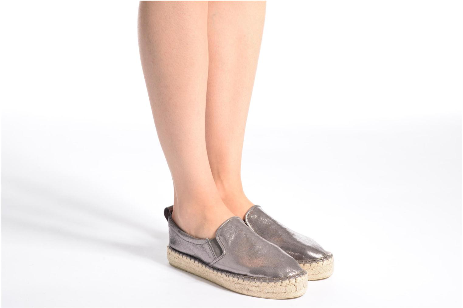 Espadrilles Colors of California Vicky Grey view from underneath / model view