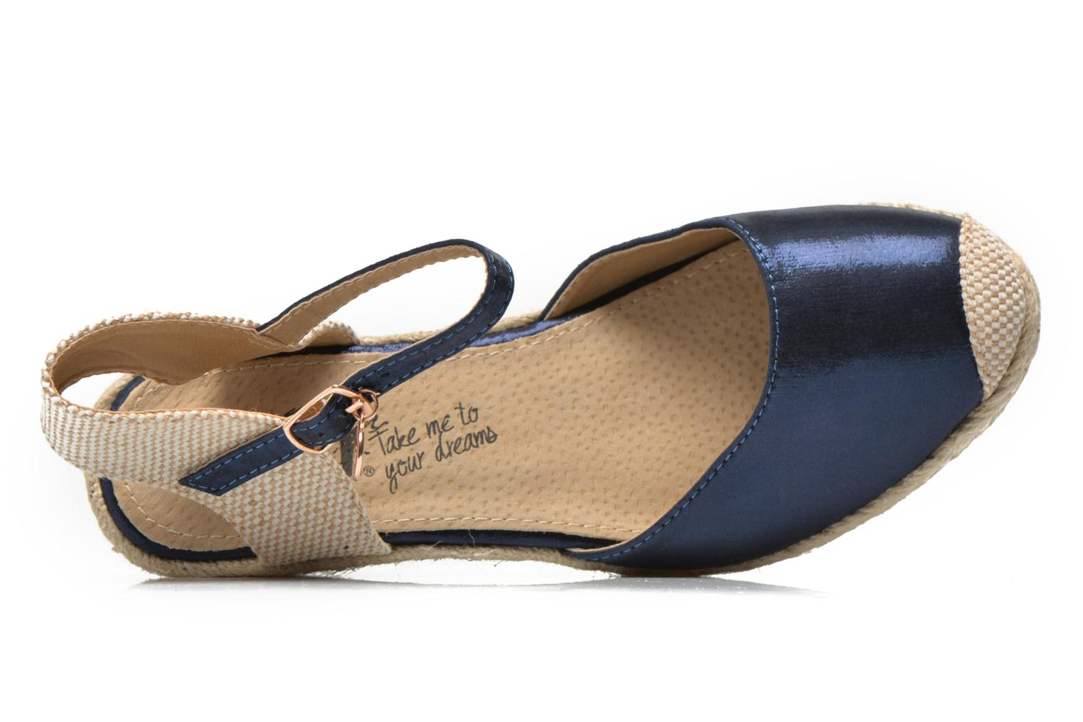 Sandals Xti Brownie 45061 Blue view from the left