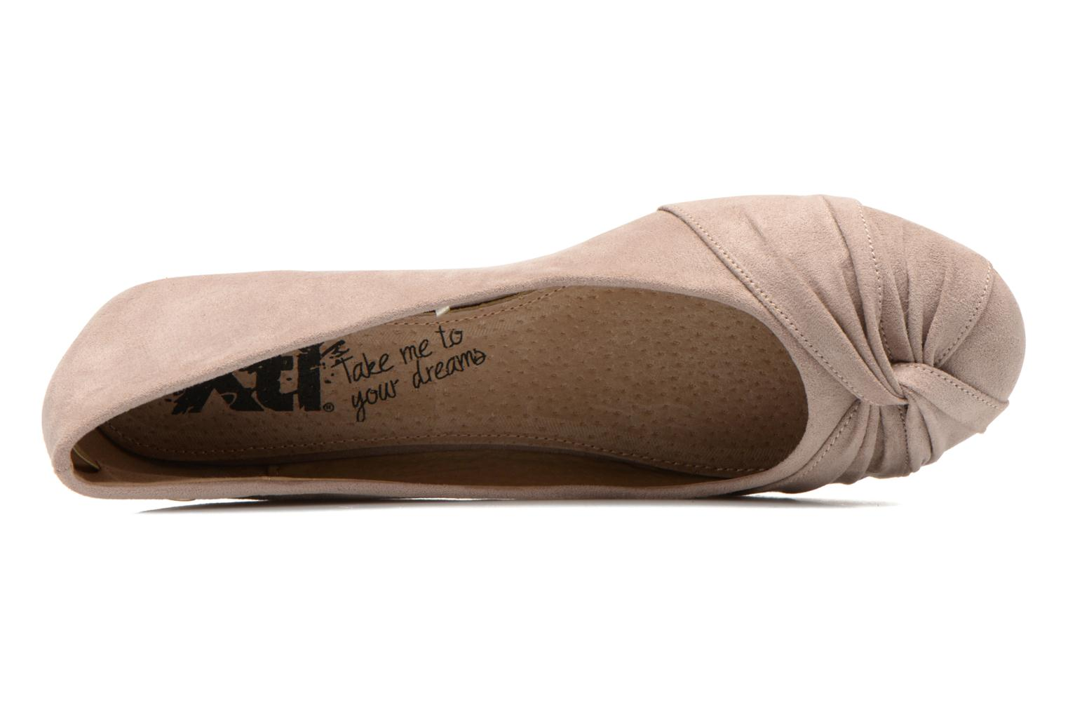 Ballet pumps Xti Constance 45114 Beige view from the left