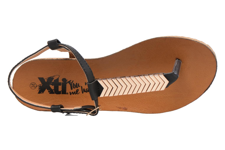 Sandales et nu-pieds Xti Reality 45103 Noir vue gauche