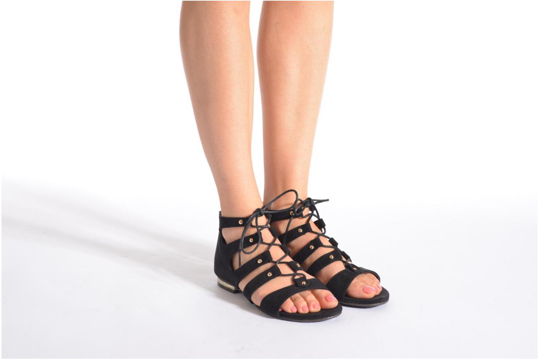 Sandales et nu-pieds Xti Rififi 45239 Noir vue bas / vue portée sac