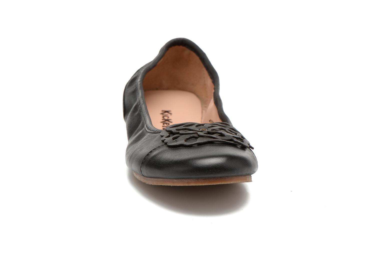 Ballerines Kickers Liber Noir vue portées chaussures