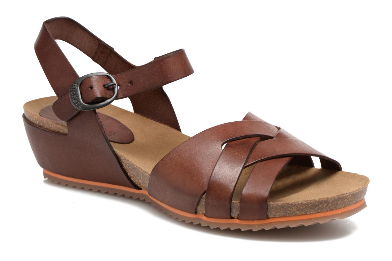 Sandales et nu-pieds Kickers Toka Marron vue détail/paire