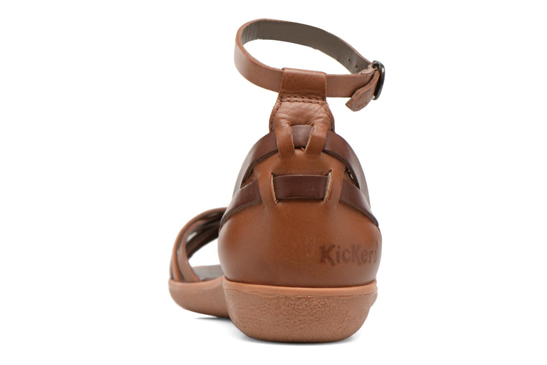Sandales et nu-pieds Kickers Hypocrate Marron vue droite