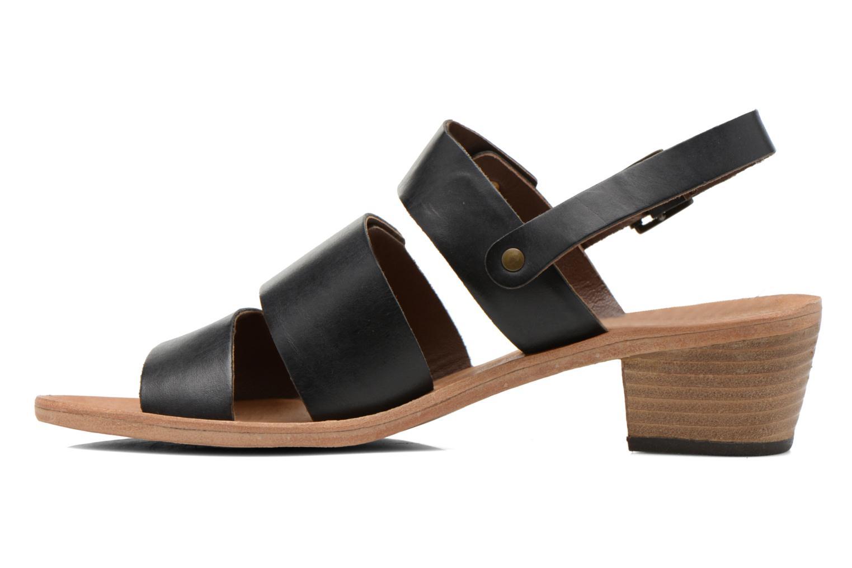 Sandales et nu-pieds Kickers Khôol Noir vue face