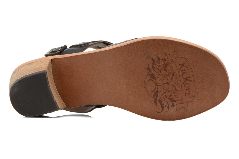 Sandales et nu-pieds Kickers Khôol Noir vue haut
