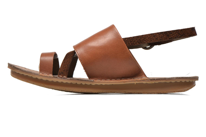 Sandales et nu-pieds Kickers Wawa Marron vue face
