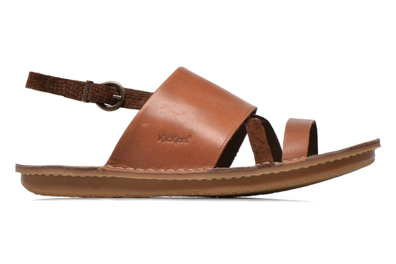 Sandales et nu-pieds Kickers Wawa Marron vue derrière